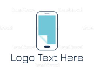 Mobile Phone - Paper Phone logo design