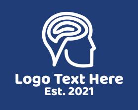 Medical - Mental Focus Man logo design