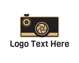 Nostalgia - Vintage Brown Camera logo design