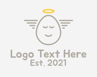 Angelic Egg Outline  Logo