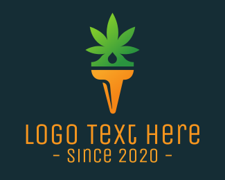 Cbd Oil - Weed Torch logo design