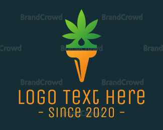 Cbd - Weed Torch logo design