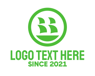 Ship - Green Ship logo design