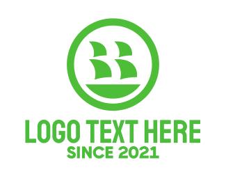 Ship - Green Ship logo design