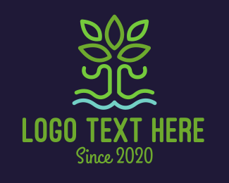 Planting - Hidroponic Plant logo design