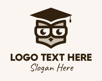 Online Learning - Smart Owl Graduate  logo design