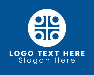 Catholic - Blue Medical Cross logo design