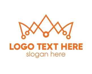 Expensive - Orange Tech Crown  logo design