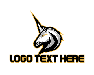 Gallop - White Unicorn Gaming logo design