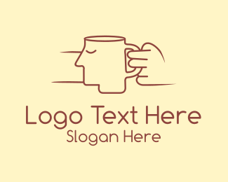 Tea - Face Cup logo design