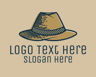 Detective - Mobster Hat logo design