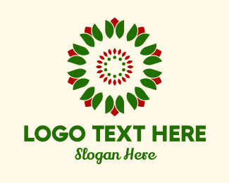 Flower Stall - Flower Bud Wreath  logo design