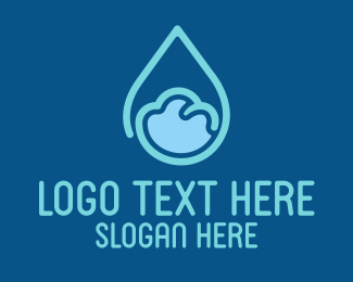 Mineral Water - Water Drop logo design