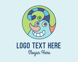 Funny - Funny Harlequin logo design