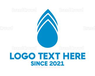 Pure - Blue Drops logo design