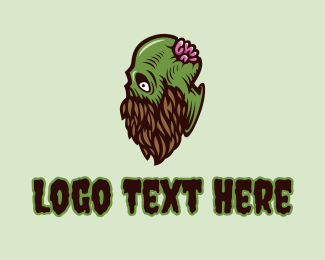 Creepy Zombie Beard  Logo