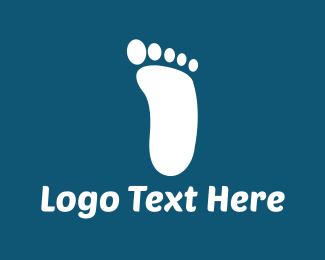 Toe - White Footprint logo design
