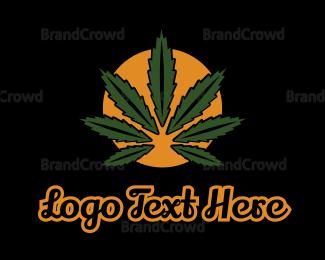 Joint - Cannabis Sun logo design
