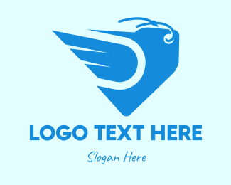 Sell - Blue Fast Price Tag logo design