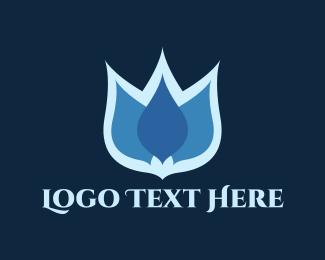 Lotus Flower - Blue Lotus logo design