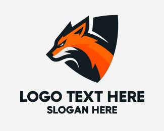 Streamer - Fox Shield Mascot logo design
