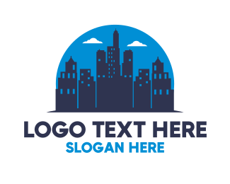 Buildings - Midnight City Silhouette logo design