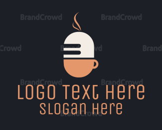 Cup - Microphone & Cup logo design