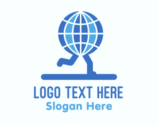 Leg - Global Runners logo design
