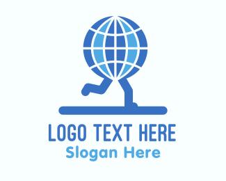 Speed - Global Runners logo design