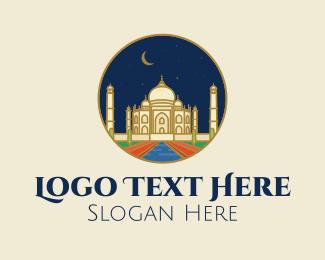 Taj Mahal - India Taj Mahal Palace  logo design
