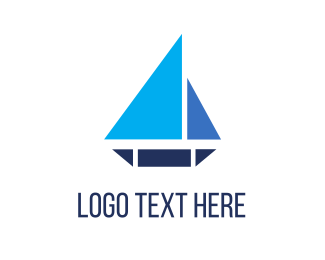 Yacht - Triangle Boat logo design