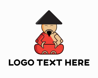 Chinese - Asian Monk logo design