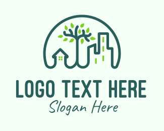 Green City - Green Eco City logo design