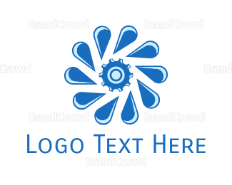 Flow - Gear Drops logo design
