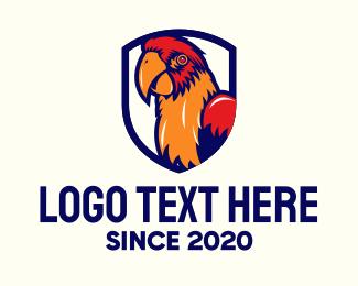Parrot - Orange Tropical Parrot logo design
