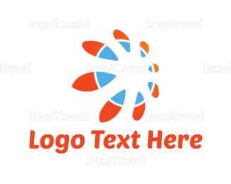 Sun - Abstract Sun logo design