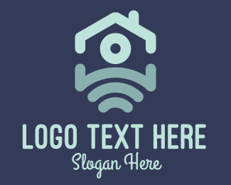 Hotspot - Blue House Wi-fi logo design