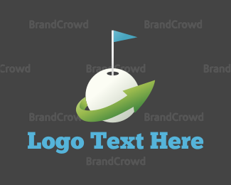 Swing - Golf Ball logo design