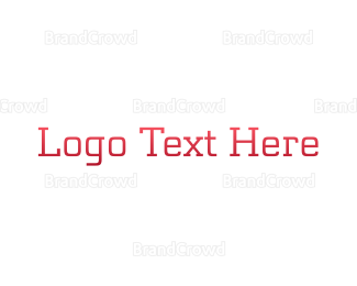 """Red Typeface"" by BrandCrowd"