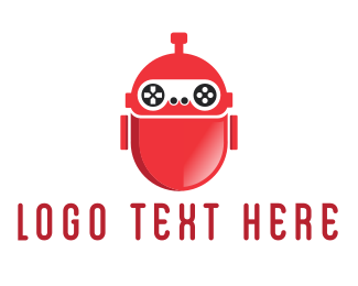 Gamestick - Red Gaming Robot logo design