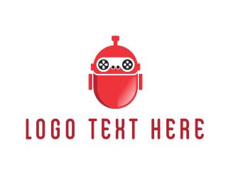 Red Gaming Robot Logo