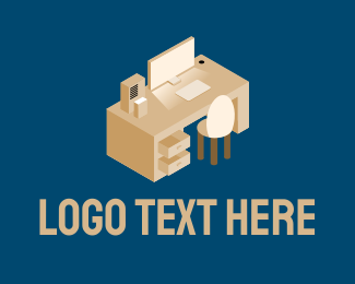 Working - Office Work Station logo design