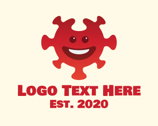 Jubilant - Red Smiling Virus  logo design