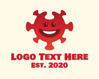 Smile - Red Smiling Virus logo design