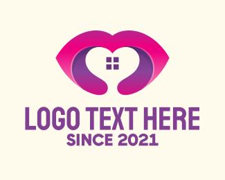 Mouth - Home Heart logo design
