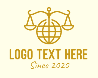 Judiciary - International Law logo design
