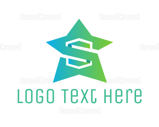 Star - Mint Star  logo design
