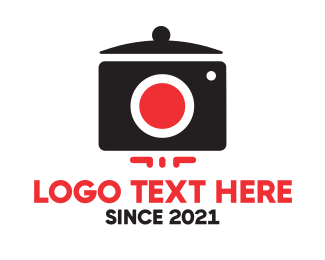 Food Vlogger - Camera Pot logo design