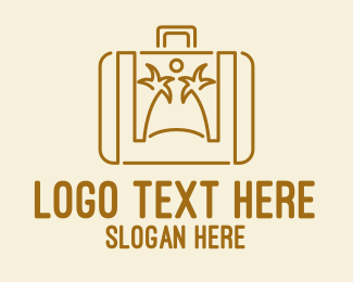 Suitcase - Holiday Beach Suitcase  logo design