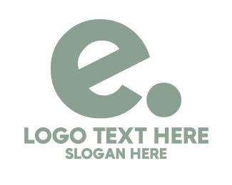 Lettermark - E dot logo design
